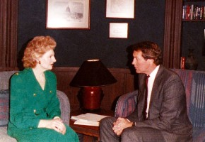 Elizabeth Sabine with Charlie Rose