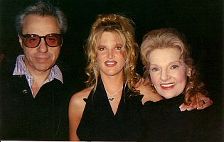 Elizabeth Sabine with Peter Bogdanovich and L B Straten