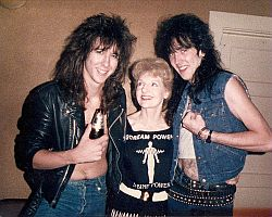 Elizabeth Sabine with Ron Keel and Don Ross