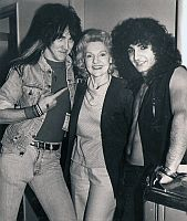 Elizabeth Sabine with Ron Keel and Tony Da